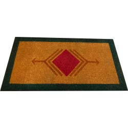 Natural Coconut Doormat - Red-Green 180×90×3CM