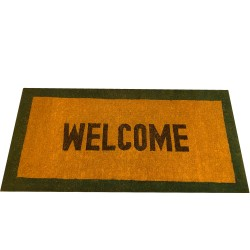 Natural Coconut Doormat Welcome - Green 180×90×5CM