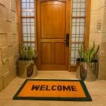 Natural Coconut Doormat Welcome - Green 150×90×3CM