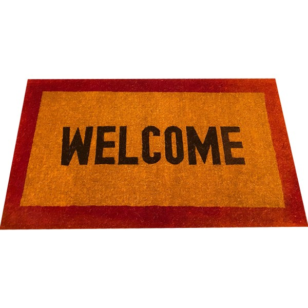 Natural Coconut Doormat Welcome - Red 150×90×5CM