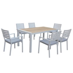 MAYFAIR DINING WHITE 7PCs