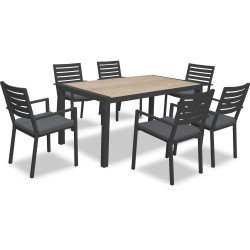 Mayfair Dining Gunmetal 7PCs