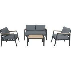 MAYFAIR LOUNGE GUNMETAL 4PCs